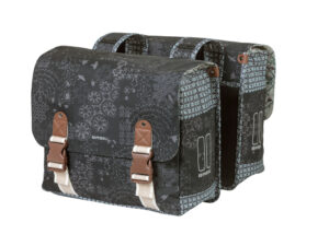 Basil Bohème Double Bag - Cykeltasker til bag - 35 liter - Charcoal