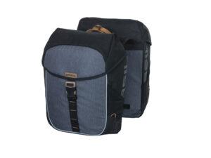 Basil Miles - Cykeltaske til bag - Double - 34 liter - Black/grey